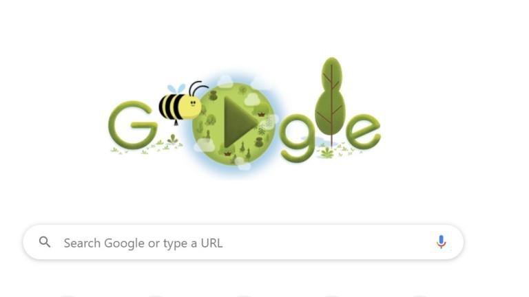 Google отбеляза Деня на Земята
