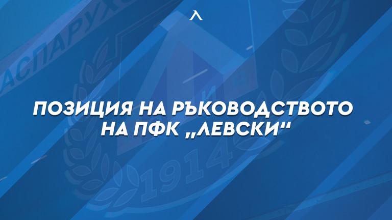 От Левски с официална позиция за провинилия се футболист, налагат му санкция за уронване престижа на клуба