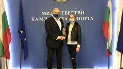 Красен Кралев се срещна с фигуристката Александра Фейгин