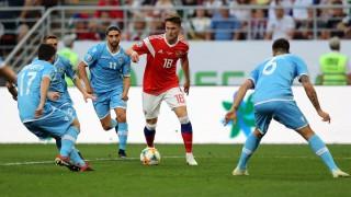 Русия отнесе Сан Марино в квалификация за Евро 2020