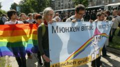 Полицията опази първия гей парад в Украйна