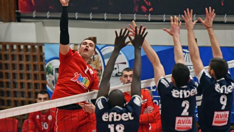 Волейболният ЦСКА спечели важна победа срещу Марек Юнион-Ивкони с 3-1