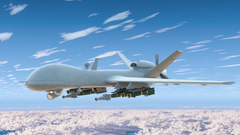 Военен дрон MQ-9 на САЩ е бил свален в областта