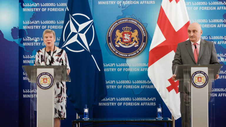 НАТО констатира голям напредък от страна на Грузия в подготовката