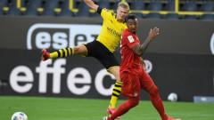 Борусия (Дортмунд) - Байерн (Мюнхен) 0:1, Халанд се контузи