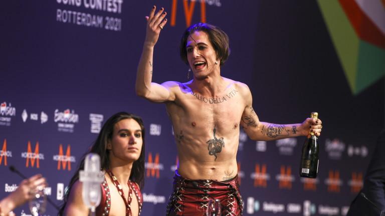Солистът на италианската група Maneskin, която спечели конкурса на