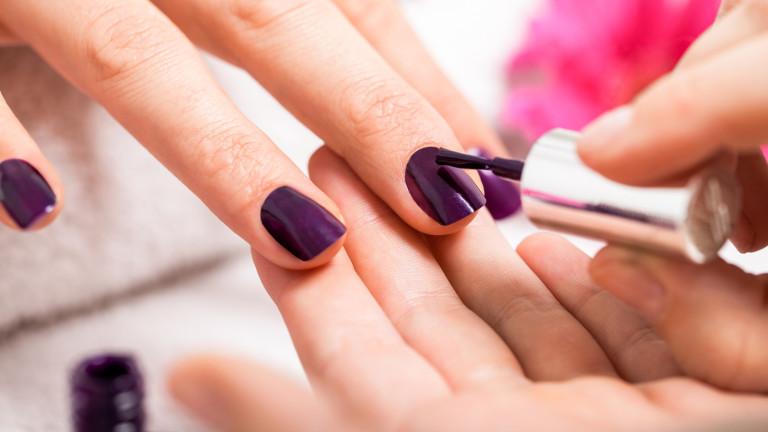 Токсичното действие на лака за нокти
