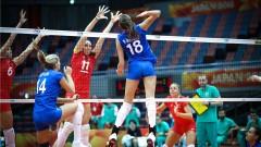 Волейболистките взеха гейм на Русия на Световното