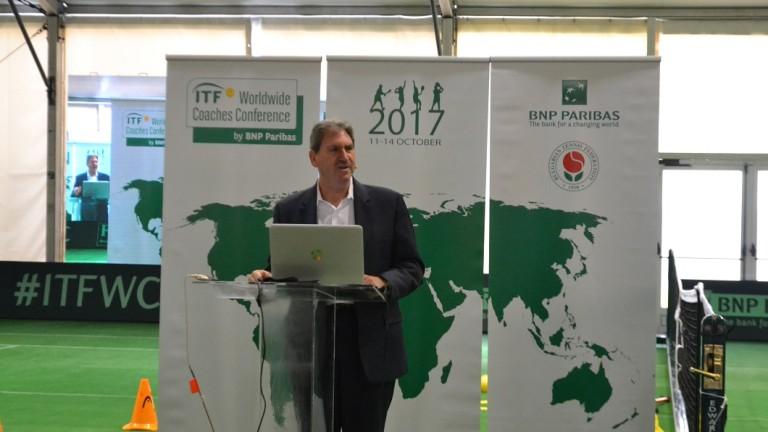 Президентът на Международната тенис федерация Дейвид Хагърти говори за развитието