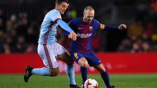 Андрес Иниеста отново извън групата на Барселона