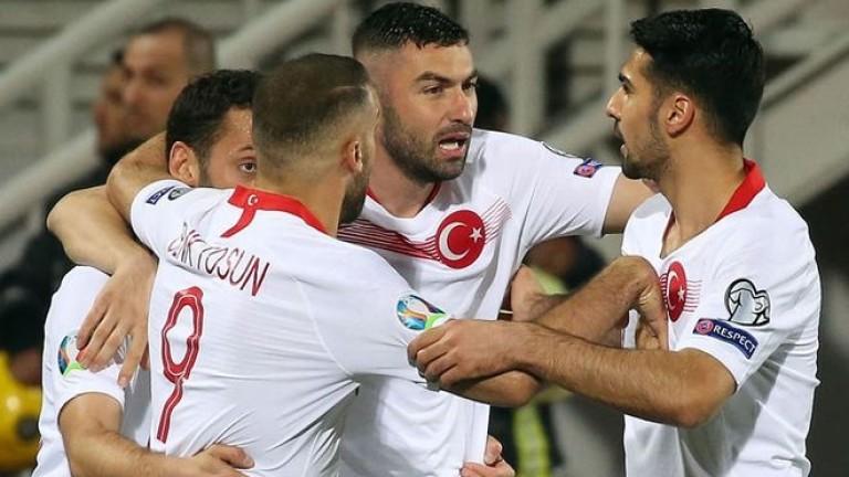Турция започна с победа похода си към Евро 2020. В