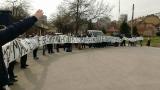Феновете на Дунав протестираха преди мача с Лудогорец
