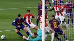 """Барса отново лидер в Ла Лига след измъчена победа срещу Атлетик (Билбао) на """"Камп Ноу"""""""