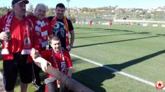 Колоритни фенове подкрепят ЦСКА-София в Испания