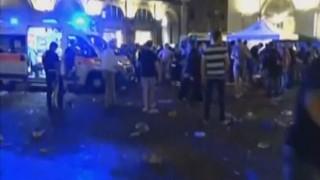 Паника на централния площад в Торино