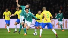 """Бразилия взе частичен реванш, срази Германия насред """"Олимпиащадион"""""""