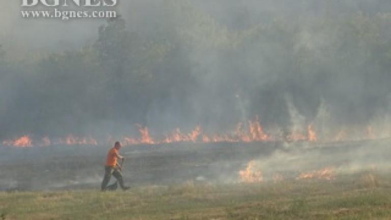 Пожар в кюстендилско село, жена е припаднала