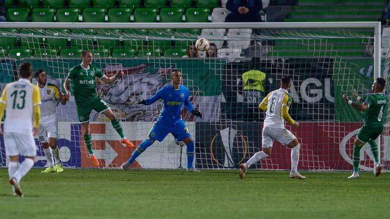 Лудогорец - АЕК (Ларнака) 0:0 (Развой на срещата по минути)