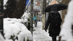 Необичайно силен снеговалеж в Атина спря имунизацията