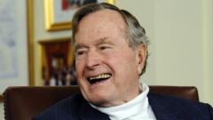 Приеха в болница Джордж Буш-старши
