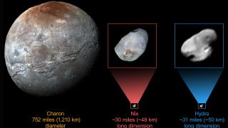 Още един от спътниците на Плутон покрит с лед