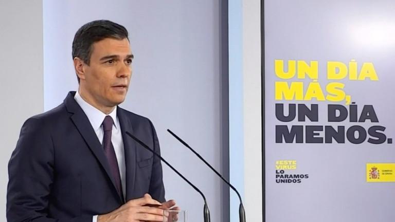 Премиерът на Испания поиска удължаване на извънредното положение с още месец