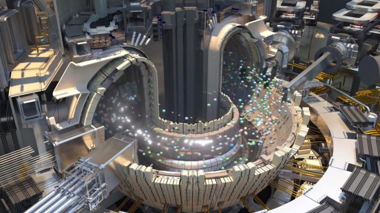 Така изглежда случващото се в термоядрен реактор