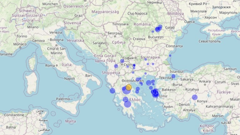 Мощно земетресение на Балканите