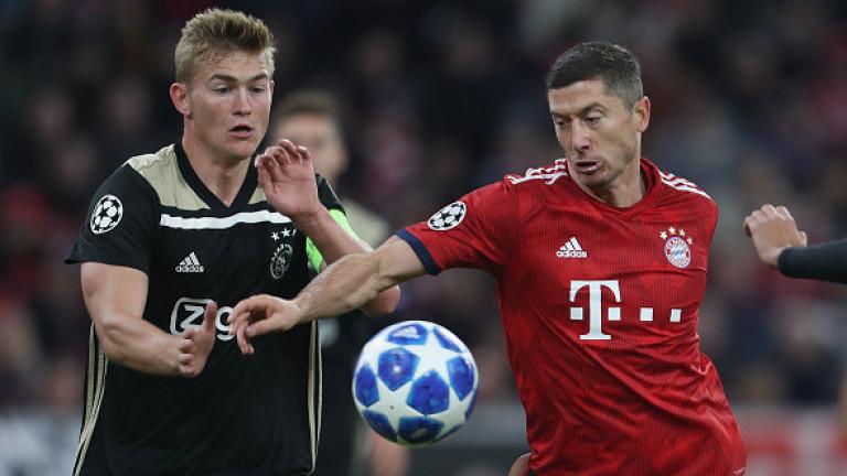 Аякс измъкна равенство 1:1 в Мюнхен срещу Байерн
