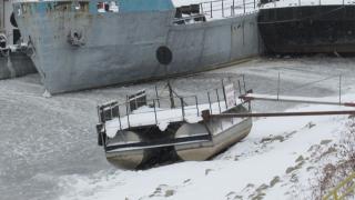 Ледоход се образува по река Дунав