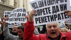 Започнаха протестите срещу скока на тока