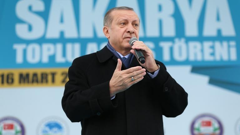 Ердоган заповяда на кюрдите в иракския град Киркук да свалят кюрдското знаме