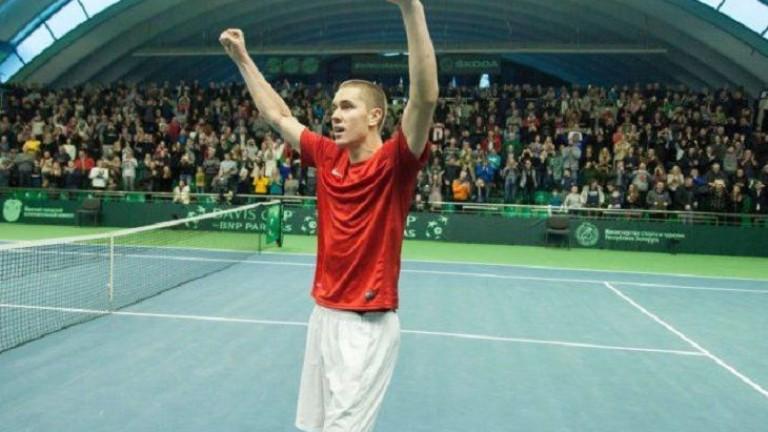 Беларуският квалификант Егор Герасимов изхвърли миналгодишния шампион Дамир Джимхур от