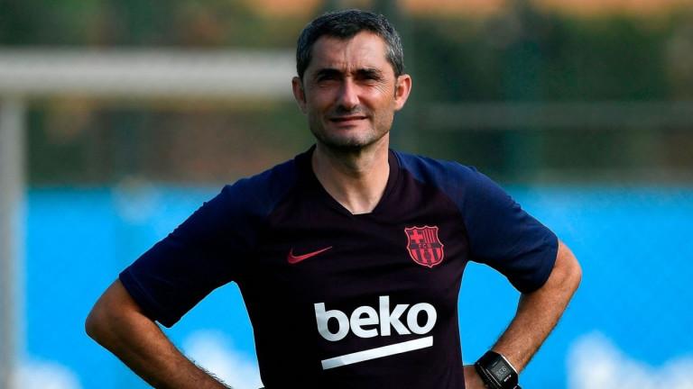 Валверде с едно колебание за титулярния състав на Барселона