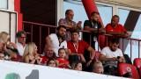 Гриша Ганчев не беше на мача ЦСКА - Осиек, синът му и Стойчо Стоилов в ложата