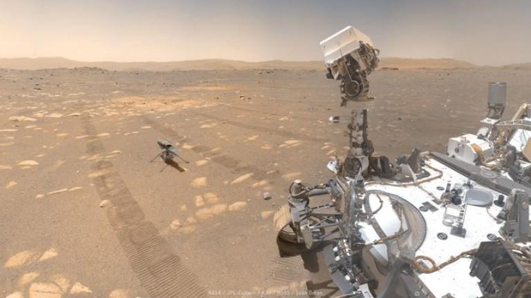 Колко градуса е на Марс