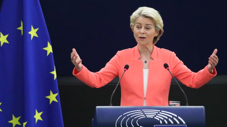 Фон дер Лайен обещава ЕС да се заеме с пандемията на неваксинираните