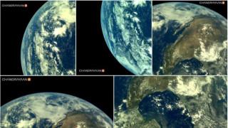 Втората мисия на Индия до Луната изпрати първите си снимки на Земята