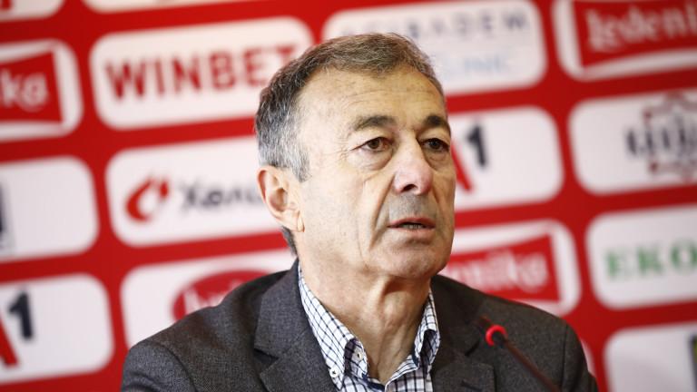 Изпълнителният директор на ЦСКА Пламен Марков коментира треньорската смяна в