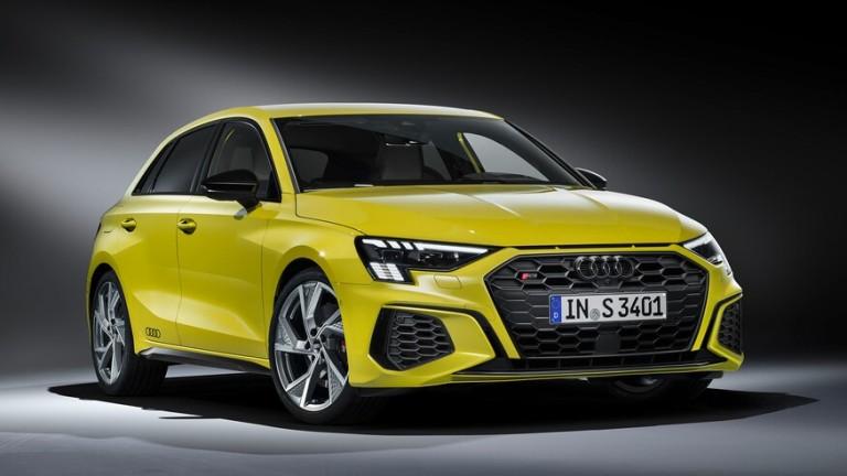 От Audi представиха пърформънс версията на бъдещия хечбек S3 (за