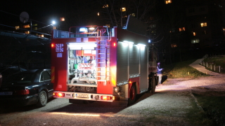 Евакуират заради пожар люлински блок в София