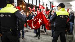 Турци протестираха в Ротердам