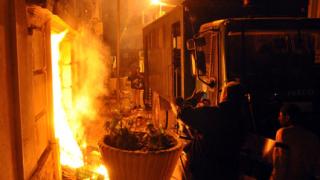 Опожариха сграда на египетските спецслужби