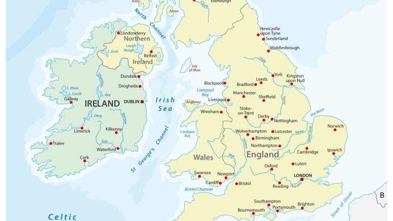 ЕС предвижда граница в Ирландско море в случай на Брекзит без сделка
