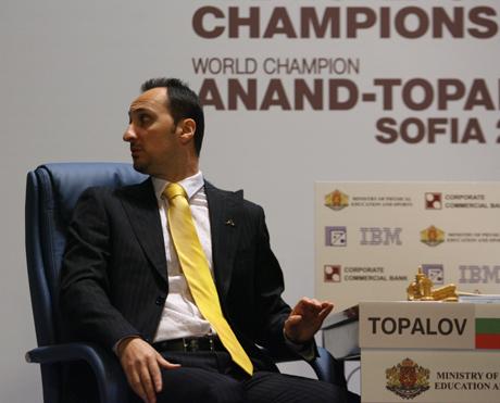 Реми в третата партия между Ананд и Топалов