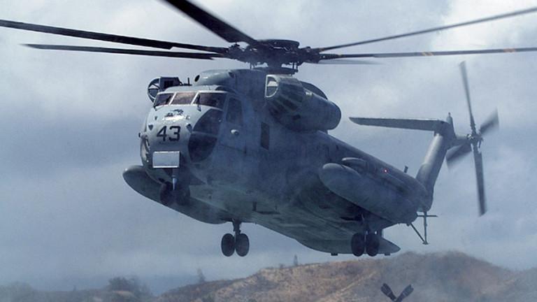 Американски военнотранспортен хеликоптерSikorsky CH-53 е катастрофирал до село Такае в