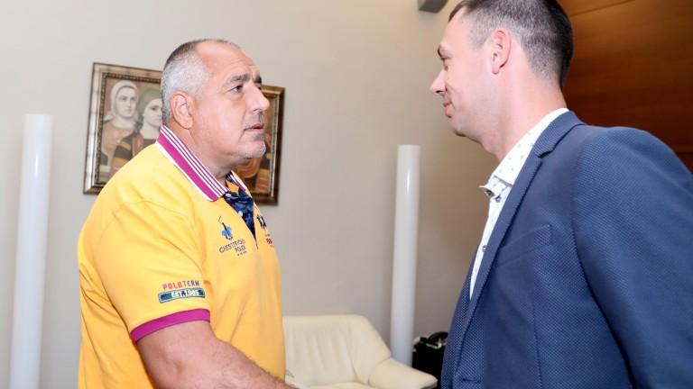 Премиерът Бойко Борисов се срещна с президента на професионален футболен