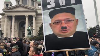Хиляди сърби искат оставката на Вучич