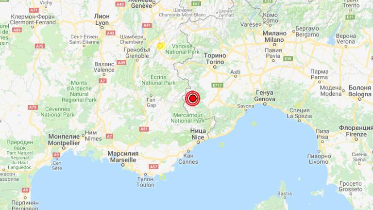 Слабо земетресение беше регистрирано в Северна Италия. По данни на