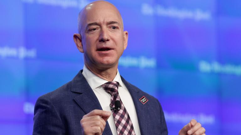 Шефът на Amazon стана вторият най-богат човек в Америка